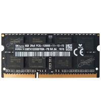 For Hynix 8GB 2RX8 PC3L-12800S DDR3L 1.35V 1600 MHz 204Pin SODIMM Laptop Memory