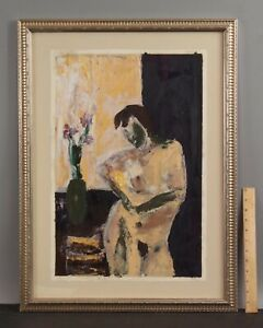 Original LESLIE PACKARD Abstract Nude Woman Oil Painting, Provincetown Artist