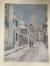 Maurice Utrillo, print, Sacre-Coeur de montmartre and passage, cottinplate c1934