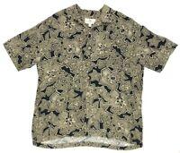 Island Shores Men's Shirt XL Short Sleeve Hawaiian Button Front Rayon Floral