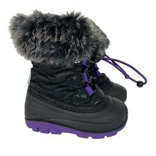 Kamik Lychee Toddler Snow Boots Girls Size 6 Black Purple Winter