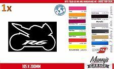 Yamaha R6 Silhouette Aufkleber, Sticker Motorrad Motorsport Autocollat Étiquette