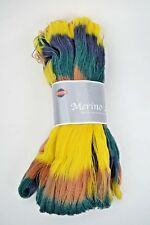 SKACEL NEW! 100g.MERINO LACE Multi-Colored 100% Fine Merino Wool Skein #1779(UB)