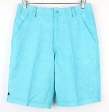 PUMA Mens Monolite Bluebird Pleat Front Slim Fit Athletic Golf Shorts 30 Waist