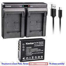 Kastar Battery Dual Charger for Panasonic CGA-S007 & Panasonic LUMIX DMC-TZ3K