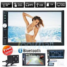 "Double 2Din 7"" Car GPS Nav Stereo MP3 MP5 Player Bluetooth FM Radio USB + Camera"