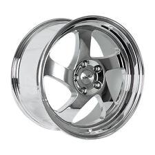 18x9.5 Whistler KR1 5x100 +35 Chrome Rims Aggressive Fits Corolla Celica Wrx Brz