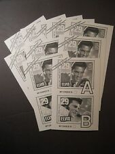 Lot 50 Official 1993 USPS Elvis Presley Voting Ballot Stamp Contest Postcard NOS