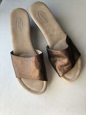 Talbots Bronze Slip On Slide Sandals Shoes Size 10W BRAND NEW!