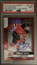 2017 2018 Will Butcher #28/50 RED PRISM OPC PLATINUM ROOKIE CARD RC AUTO PSA 9