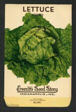 LETTUCE, Iceburg, Everitt's Antique Seed Packet, Kitchen Decor, 048