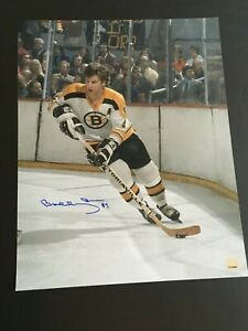 BOBBY ORR AUTOGRAPHED 16 X 20 ACTION PHOTO GREAT NORTH ROAD AMERICA C.O.A.