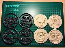 4 Piezas Minions plástico Bizcocho Masita Cortador Fondant Pastel Decoración Molde UK