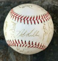 $600 1982 Houston Astros Signed Team Ball 24 Pro Autograph Baseball Nolan Ryan