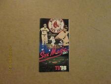 MLB Boston Red Sox 1980 Sox Magic TV38 Pocket Schedule