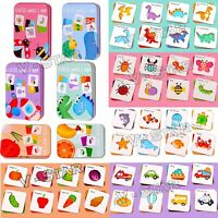KIDS EDUCATIONAL WOODEN PUZZLE TOYS FRUITS, ANIMALS, VEGETABLES, VEHICLES GIFTS