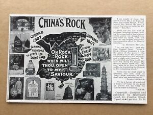 Christian mission China 1907 from Opium den & fortune telling to Christ postcard