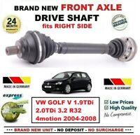 Pour VW Golf V 1.9TDi 2.0TDi 3.2 R32 4motion 2004-2008 Neuf avant Droit Arbre