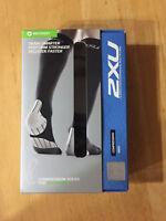 2XU Men's MA2440e Compression Socks For Recovery  Black/ Black