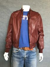 80´s Vintage leather Jacket members only style USA Size: 42L