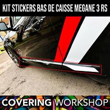 Kit Stickers bas de caisse Megane 3 RS Renault Sport X2