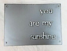 """12 x 9"""" YOU ARE MY SUNSHINE Metal Wall Art Craft Stencil Vintage Farmhouse Sign"""