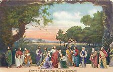 DB Religious Postcard E250 Christ Blessing His Disciples Svenska Folkets Tidning