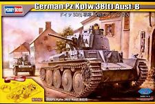 Hobbyboss 1:35 Pz.Kpfw.38(t) Ausf.B With Full Interior German Tank Model Kit