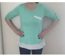 Nursing / Breastfeeding Top with Chiffon underlayer & trims BNWT L / 12