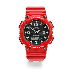 Casio Aqs810wc-4a Mens Tough Solar Digital Sports Watch 5 Alarms Glossy Red