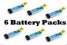 E-flite 150mAh 1S 3.7V 45C LiPo 6 Pcs Battery BLADE NCPX NANO QX # EFLB1501S45