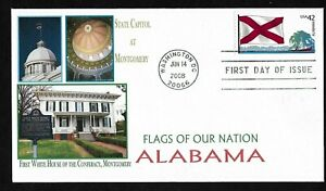 #4274 42c State Flags of Our Nation - Alabama - 1st White House of the Co... FDC