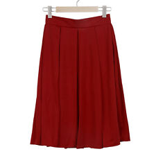 Vintage Women Stretch-High Waist Skater Flared Pleated Swing Long Skirt Dress