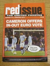 Feb-2013 Manchester United: Fanzine - Red Issue No.271, 'Cameron Offers In-Out E