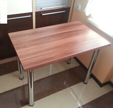 new KITCHEN / DINING TABLE WOODEN +CHROME LEGS lots of colours available