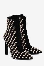 Jeffrey Campbell Elphaba Embellished Suede Boots size 7.5 black new in box
