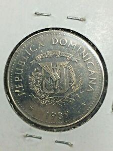 1989 Dominican Republic 25 Centavos Coin