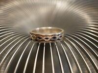 Mystischer 925 Silber Ring Knoten Geflochten Verschlungen Keltisch Vintage Retro