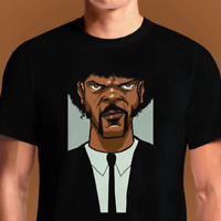 Jules Say What Again Pulp Fiction Samuel L. Jackson Funny Black T-Shirt S-6XL