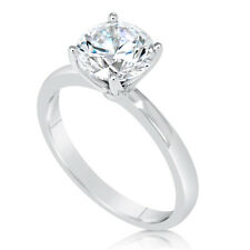 1.75 Ct Round Cut Vs Diamond Solitaire Engagement Ring 14K White Gold