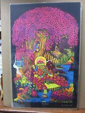 Vintage Black light Poster Magic Forest 1971 saladin G434