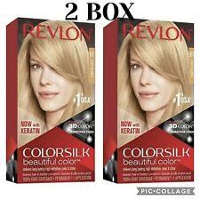 Lot 2 New Revlon Colorsilk Permanent Hair Dye, Color #81 Light Blonde