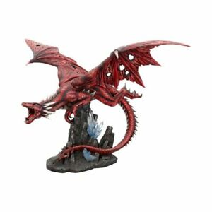 FRAENERS WRATH Extra Large 52cm Red Gothic Dragon Figurine Nemesis Now  FREE P+P