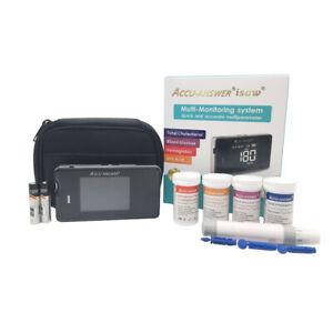 Glucose Cholesterol Uric Acid Hemoglobin Multi Monitor ACCU ANSWER iSaw 4 in 1