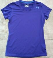 WOMEN'S MEDIUM FITTED PURPLE AND BLUE UNDER ARMOUR HEAT GEAR TOP