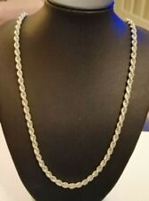 Italian Sterling silver Rope necklace - 15.6 gms