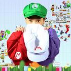 Luigi Super Mario Bros Cosplay Adult Size Hat Cap Baseball Costume SC