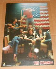 The Strokes 2002 Poster Original 34x22 RARE (flag)
