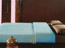 Copriletto Singolo Coperta Soft Touch Cotone Nido d'ape Azzurro Acqua Manterol