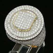 Men's Hip Hop Classic Pinky Ring in 4.81 Ct Iced Out Sim Diamond Over 925 Silver